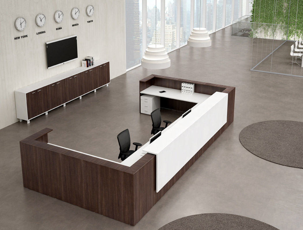 Banques d 39 accueil for Scrivania reception